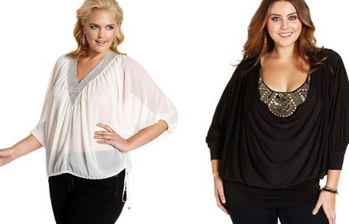 Как сшить модную блузку для полных женщин 46