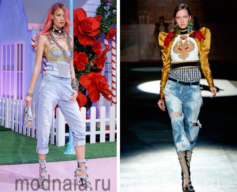 Модна довжина джинс. Рвані і пошарпані варіації. Клешеная джинси ... 4920c0a637b15