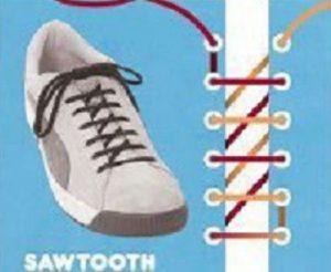 Спосіб зав язувати шнурки - «Пилкоподібний» (Sawtooth) 56c565883a3a0