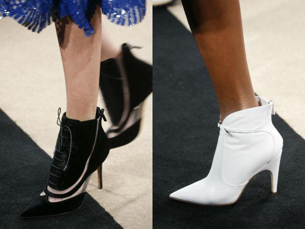 Ботильйони з вузьким носиком можуть бути вдало доповнені модної нині  шнурівкою (Derek Lam) або мініатюрними ремінцями (Bottega Veneta). 795900d55a974
