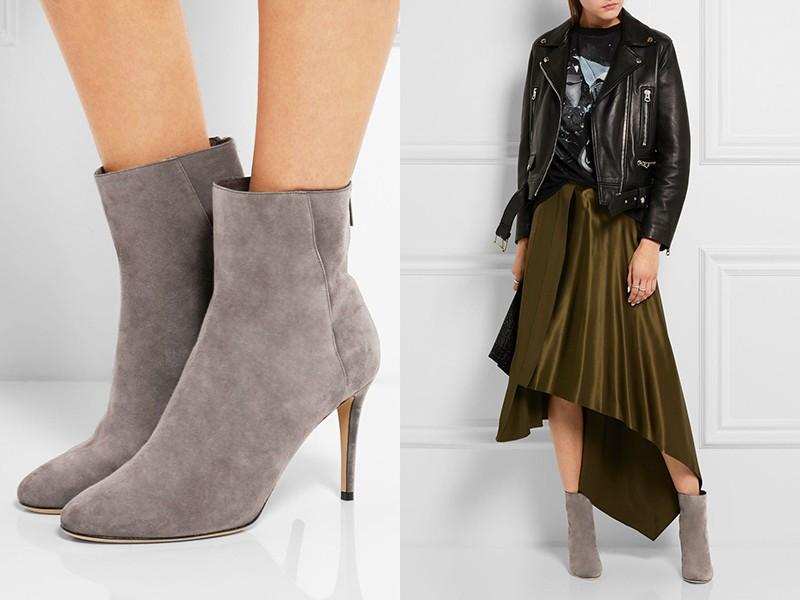 dd1bc0baa9530 Pre prácu: šedé a čierne šatky na šaty, šedé pančuchy a šedé krajkové  topánky. Komplet dopĺňame s čiernym krátkym bielym plášťom šál na krku s  čiernou a ...