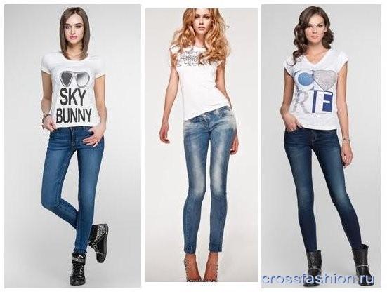 Дівчина в білій майці і джинсах. Як і з чим носити білу футболку ... 9329ab70fc8f4