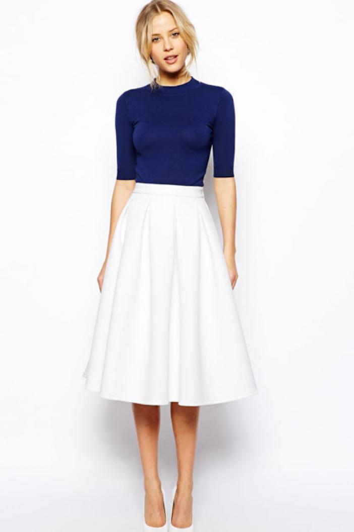 Horná časť s mäkkou sukňou môže byť zastrčená za pás alebo vybrať možnosť