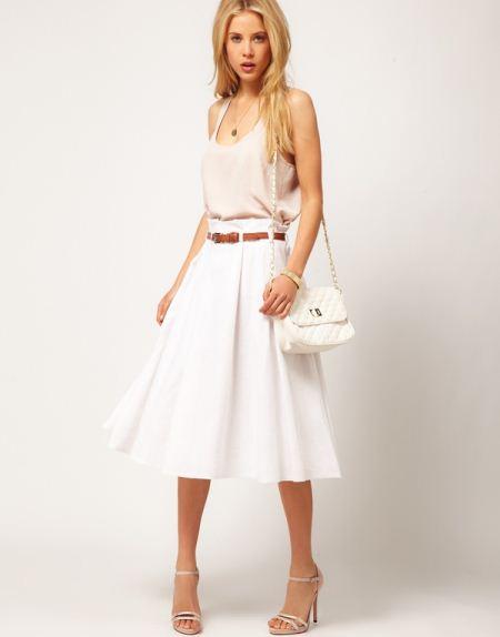 Біла річна спідниця. З чим носити довгу білу спідницю  поради d79f6d84fc7ab