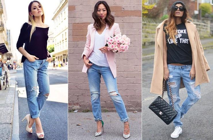 Правила поєднання джинсового одягу. Сині джинси  з чим їх носити і ... 0121b1745ad94