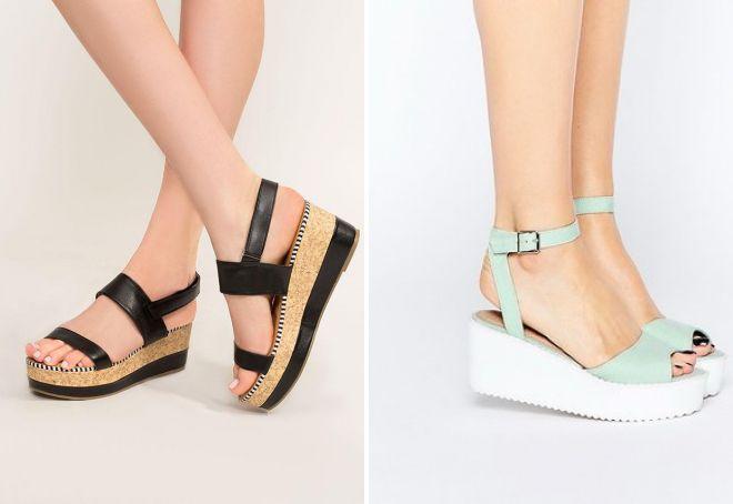 d970435473f6d Módne letné sandále na platforme. Etnické výtlačky a kvetinové ...