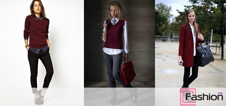 Леопардовий принт і бордовий колір в одязі повинні використовуватися дуже  акуратно - ідеально c1ea7635e2cc4