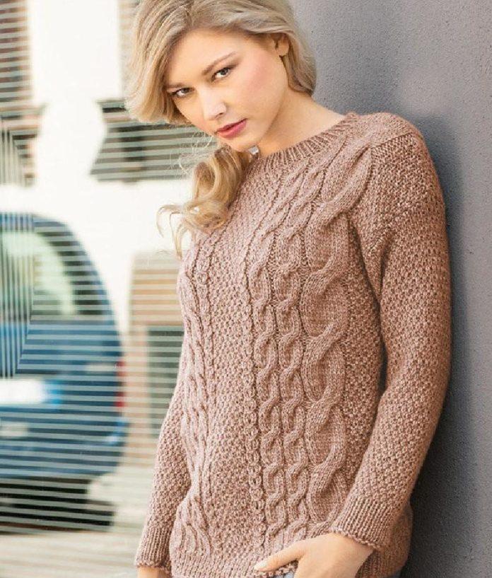 58fd26a4deb2 Na pletenie takého sveter budete potrebovať  priadzu (45% vlnu