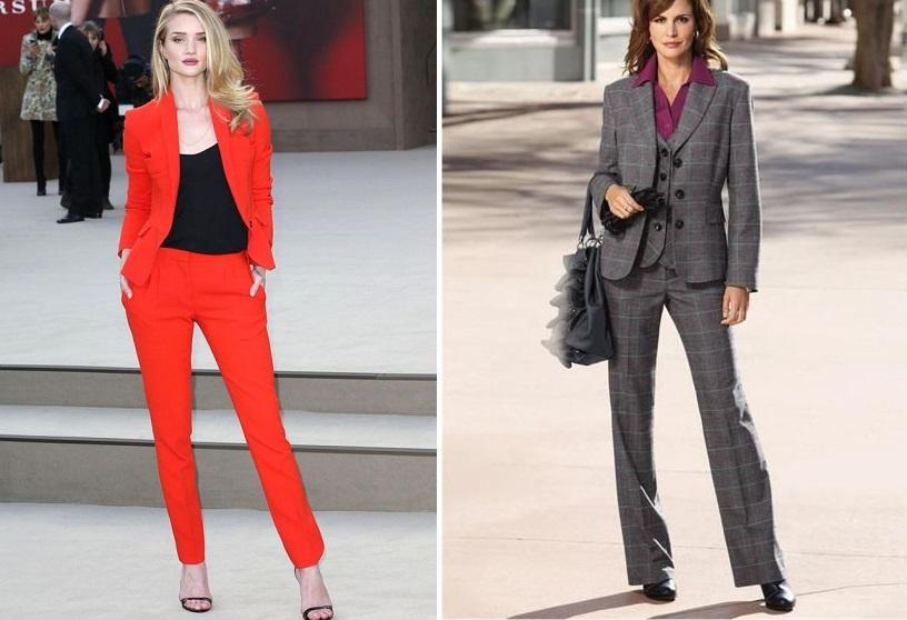 Порадує модниць і вибір модних кольорів брючних костюмів. Дизайнери  зупинили вибір на синьому кольорі і на блакитних тонах. 99c43acc95140