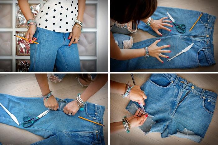 Як зробити шорти з широких джинс. Як зробити шорти з джинс своїми руками 4ccf7da56908e