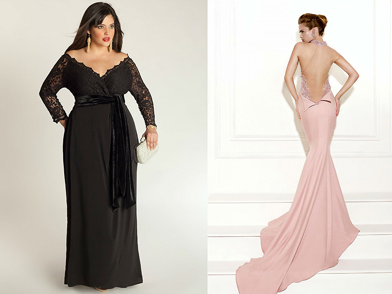 Для повних жінок стилісти рекомендують підбирати темні сукні. За допомогою  вдалого кольору легко приховати неідеальні форми. Маніпуляції з довжиною  виробів ... 2582c1d3aca56