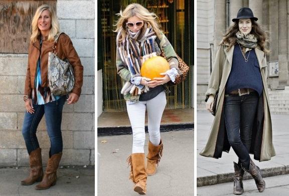 Kovbojské topánky pre ženy v štýle krajiny takisto nebudú na jeseň  nepríjemné. Svetlé tóny a jemné odtiene dodajú takej obuvi viac ženskosti a  elegancie. c432be78fc4
