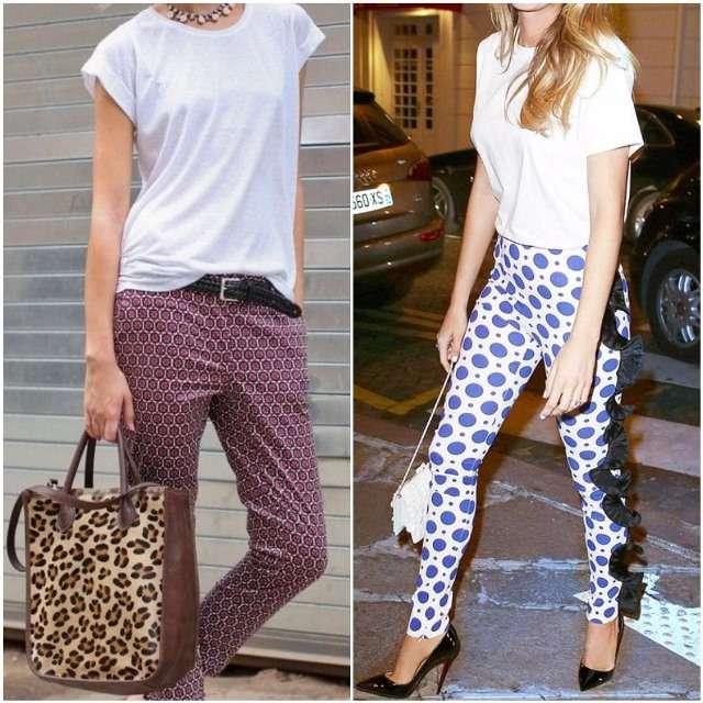 Красива комбінація - це дует футболки з кольоровими брюками або брюками з  принтом 00044213bc32c
