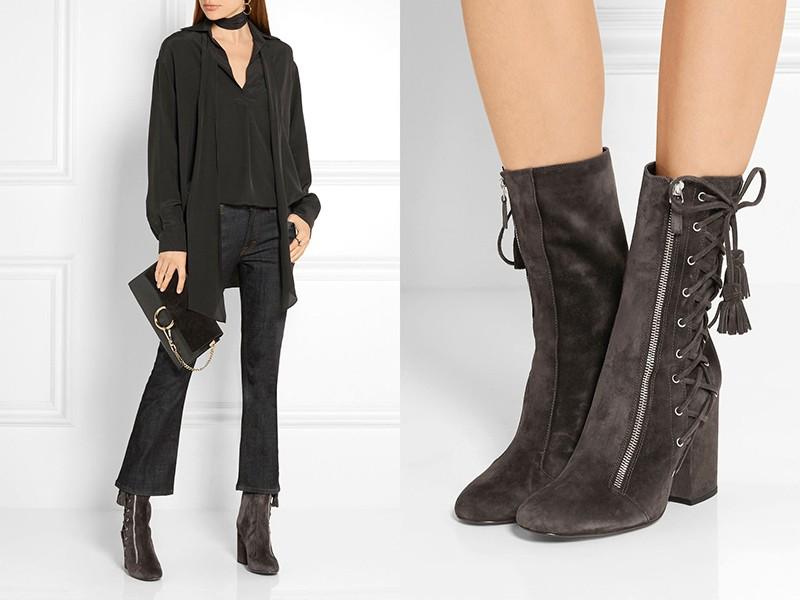 90d2bdb59bd73 Módne šedé topánky dokonale dopĺňajú čierne a biele komplety. Túto topánku  môžete zaradiť do monochromatických súborov s rôznymi odtieňmi šedej, ...